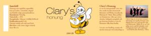 Nya etiketter till honungsburkarna