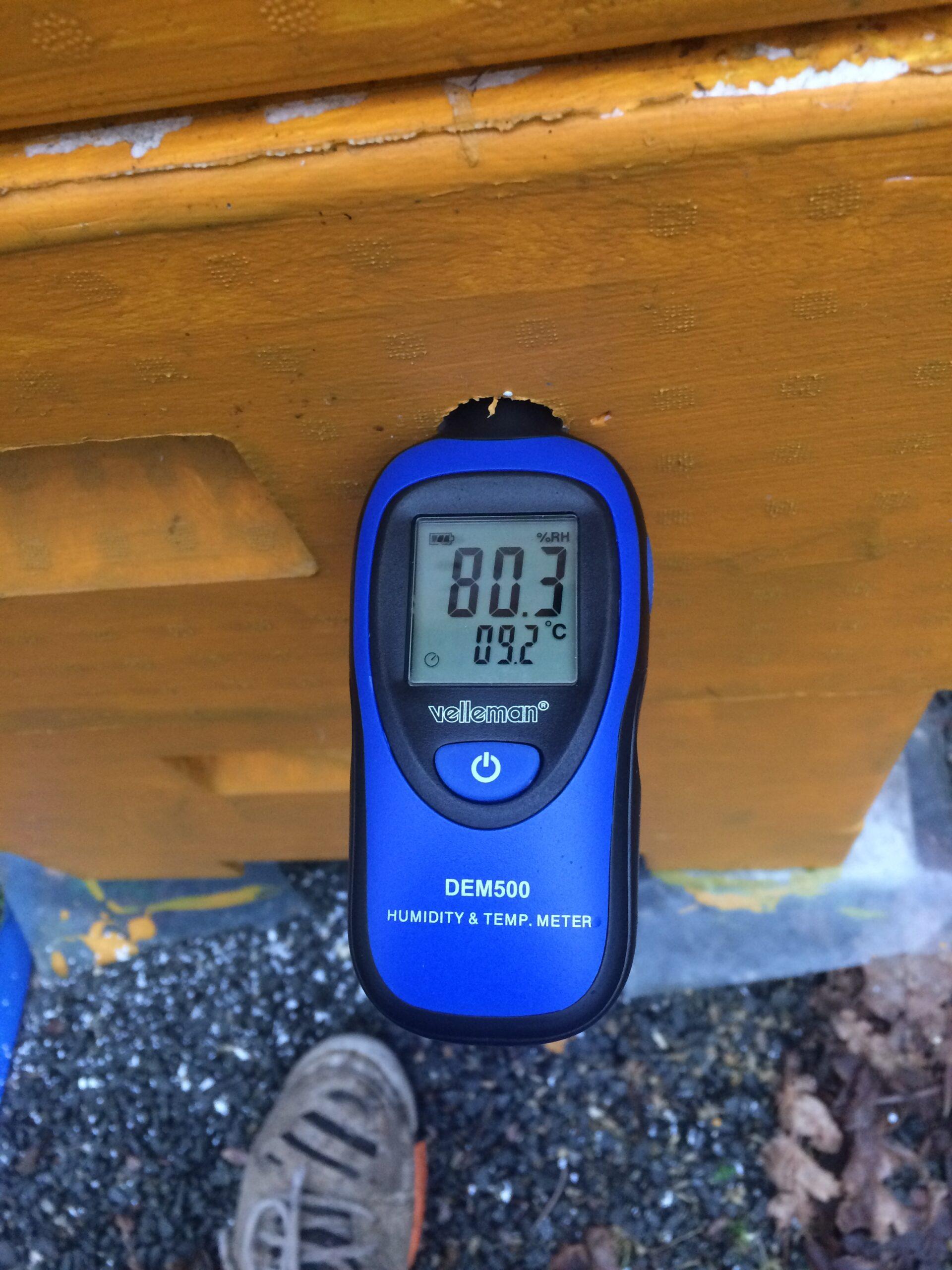 Mätningar av temperatur, luftfuktighet och koldioxid i traditionell bikupedesign